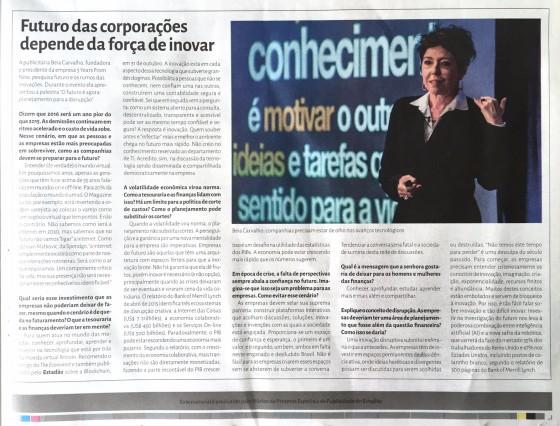Beia Carvalho entrevistada no Estadão, evento Eurofinance, nov 2015.